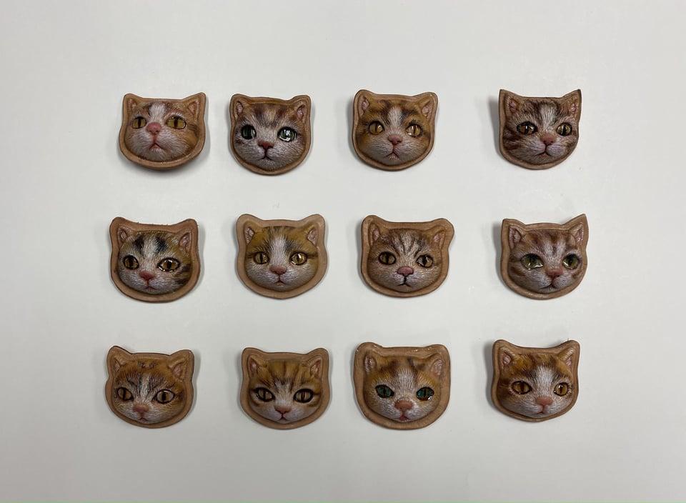 立体猫完成作品 JLCA講習会 レザークラフト  革工芸